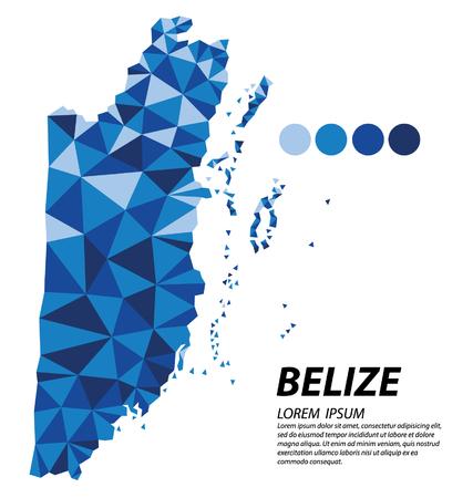 Belize geometric concept design Illustration