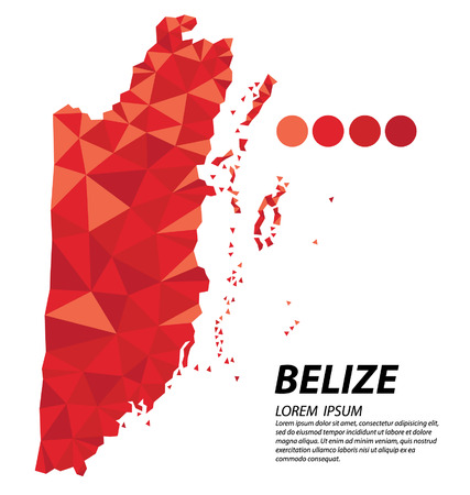 belize: Belize geometric concept design Illustration