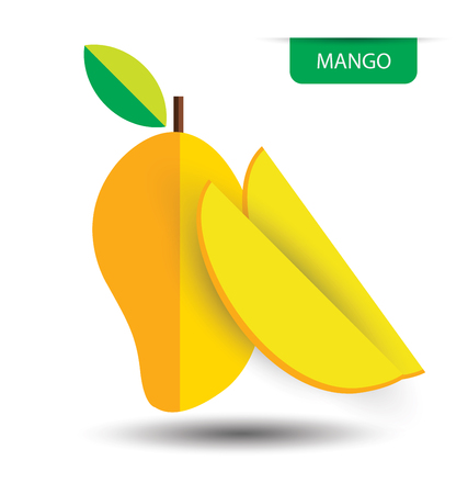 mango, fruit vector illustration