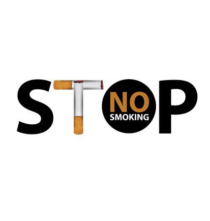 inhalation: no smoking sign. vector illustration. Illustration
