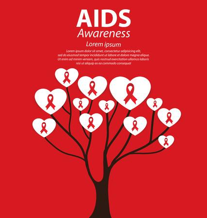 aids awareness: Aids Awareness. Vector illustration. Illustration