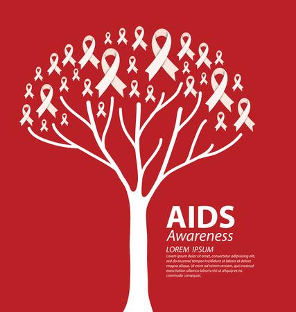 hiv awareness: Aids Awareness. Vector illustration. Illustration