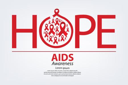 aids awareness: Aids Awareness. World Aids Day concept. Vector illustration. Illustration