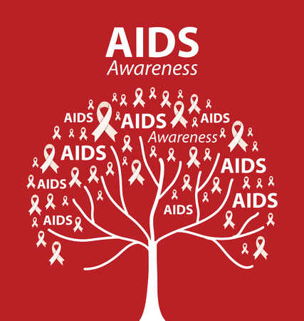 Aids Awareness. Vector illustration.