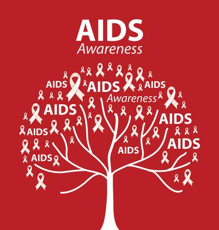 Conciencia del SIDA. Ilustración del vector.