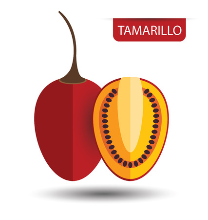 tamarillo: Tamarillo, fruit vector illustration Illustration