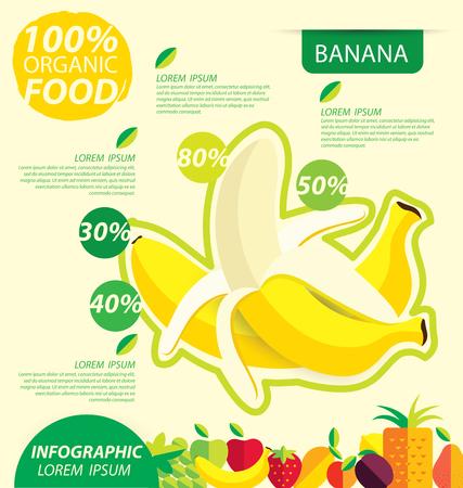 benefit: Banana. Infographic template. vector illustration.