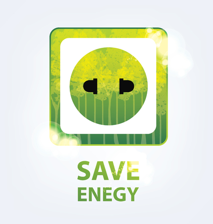 go green concept: Go green concept. Save world vector Illustration. Illustration
