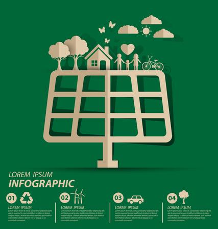 Energooszczędne koncepcji. Zapisz świata ilustracji wektorowych.