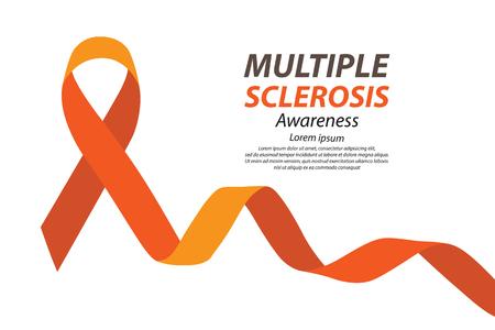malnutrition: World Multiple Sclerosis Day. Vector illustration. Illustration