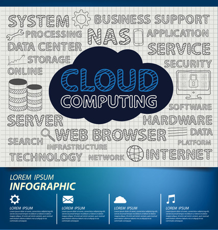 nas: Cloud computing concept. Vector illustration.
