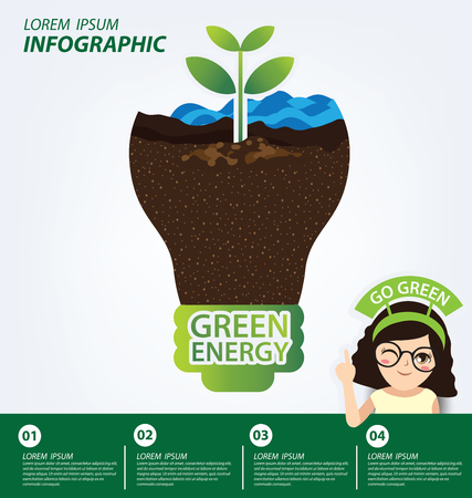 Infographic template. Ecology concept. save world vector illustration.