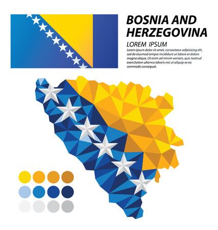 herzegovina: Bosnia and Herzegovina geometric concept design