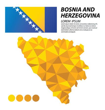 Bosnia and Herzegovina geometric concept design