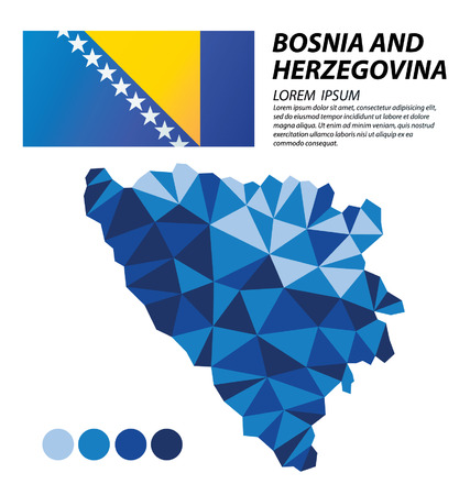 bosnia: Bosnia and Herzegovina geometric concept design