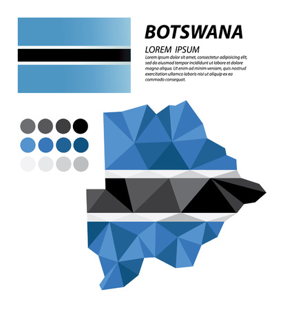 botswana: Botswana geometric concept design Illustration