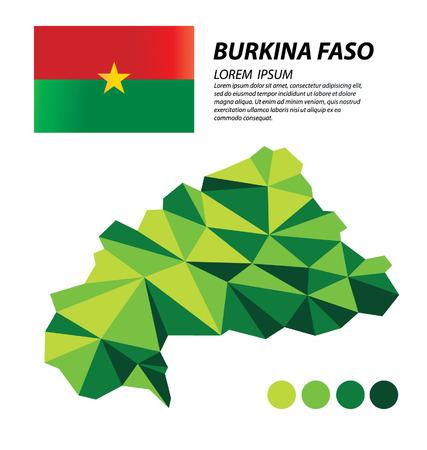 Burkina Faso concepto de diseño geométrico Vectores