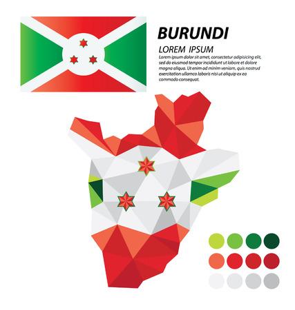 Burundi concepto de diseño geométrico