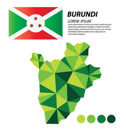 burundi: Burundi geometric concept design
