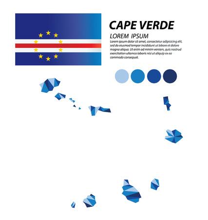 cape: Cape Verde geometric concept design Illustration