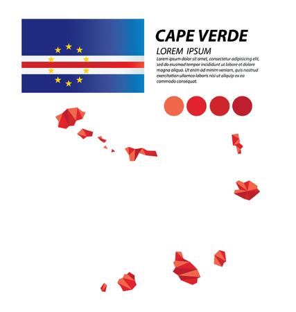 verde: Cape Verde geometric concept design Illustration