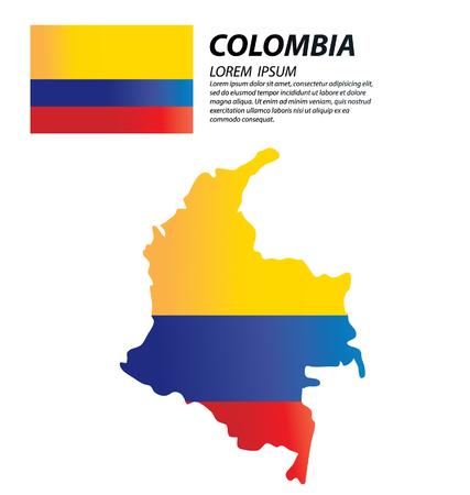 colombia: Colombia vector