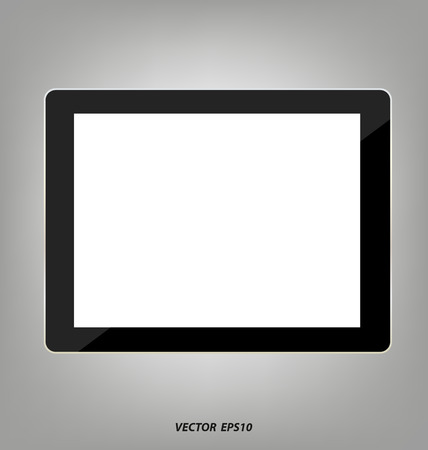 blank tablet: tablet with blank screen
