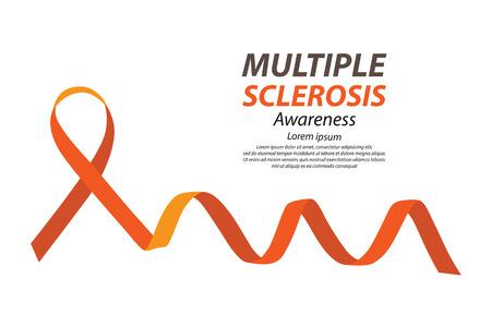 sclerosis: Multiple Sclerosis awareness. Vector illustration.