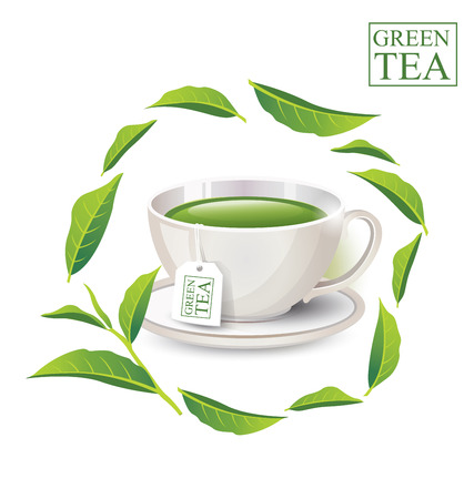 sooth: Cup of tea isolated on white background. Vector illustration. Illustration