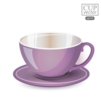 Purple cup isolated on white background. Vector illustration. Illustration