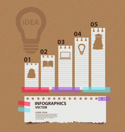 education concept: infographics education concept vector illustration Illustration