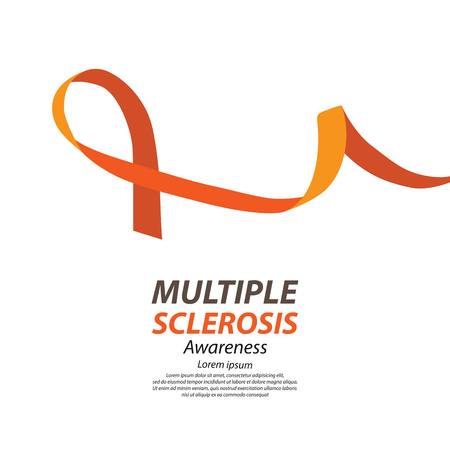 ms: World Multiple Sclerosis Day. Vector illustration. Illustration