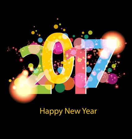 Bonne année 2017 Vecteurs