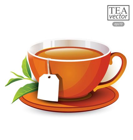 Cup of tea isolated on white background. Vector illustration. Illustration
