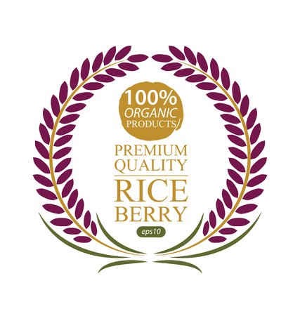 produits céréaliers: berry Rice. Vector illustration.