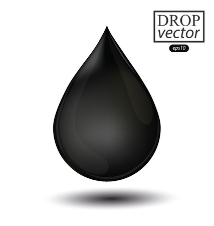 Oil drop isolated on white background. Vector illustration.
