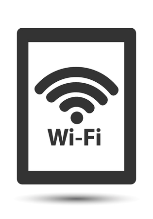 wireless internet: Internet wireless technology. Wireless Icon. wifi symbol. vector illustration. Illustration