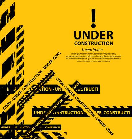 reconstruction: under construction background vector illustration