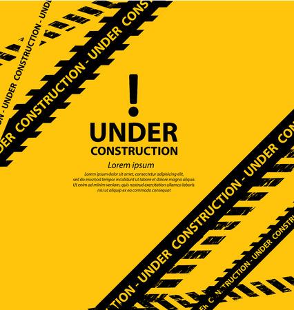 under construction background vector illustration