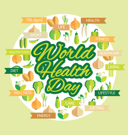 World health day concept. Vector illustration. Illustration