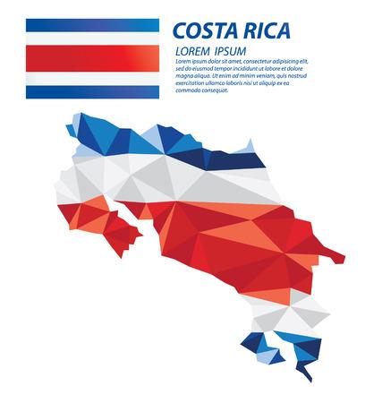Costa Rica geometric concept design Illustration