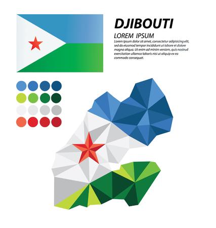 djibouti: Djibouti geometric concept design Illustration