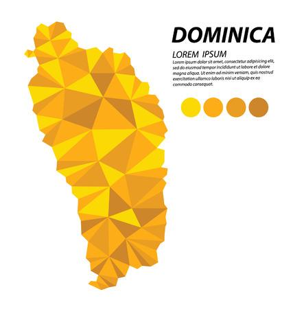 Commonwealth of Dominica geometric concept design