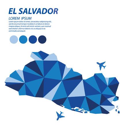 bandera de el salvador: Concepto de diseño geométrico de El Salvador