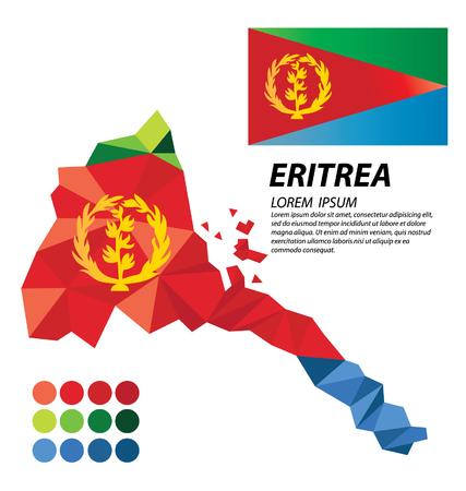 eritrea: State of Eritrea geometric concept design Illustration