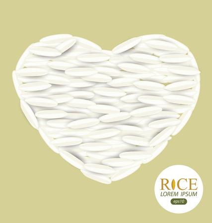 Rice grains. Vector illustration.