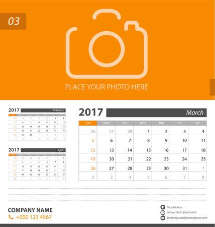Calendar for 2017. Vector EPS10. Illustration
