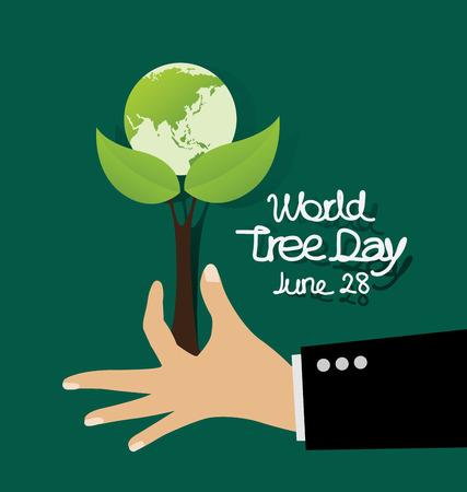 World tree day concept vector illustration.