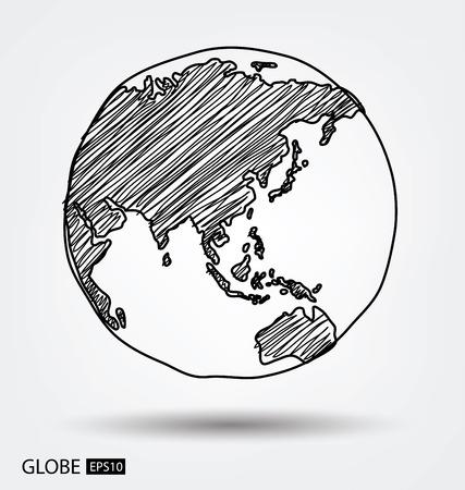 Globe. vecteur Illustration.