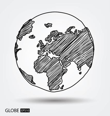Globe. vector Illustration.